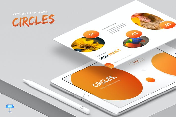 Thumbnail for Circles - Keynote Template