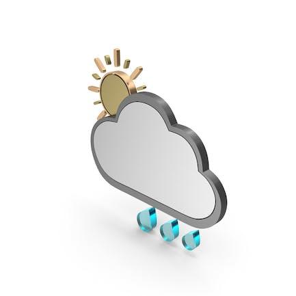 Wetter-Symbol teilweise bewölkt mit Regen