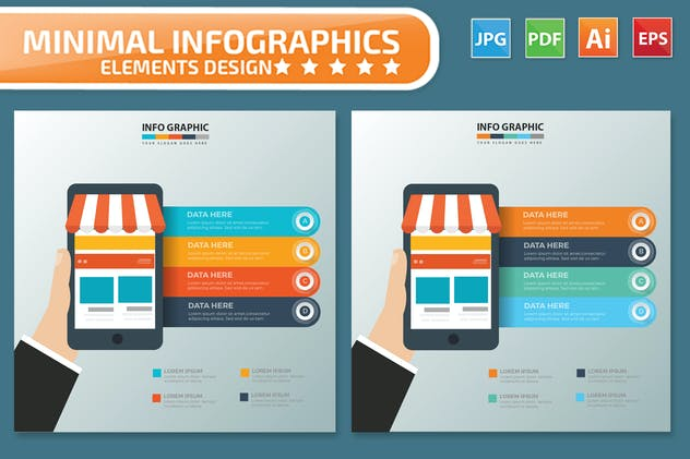 Mobile Shopping Infographics - product preview 2
