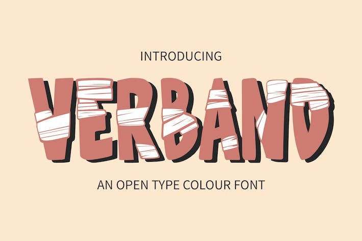 Thumbnail for Verband - OTF Colour Font GL