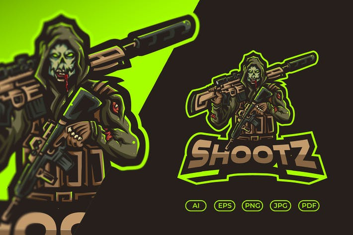 Esport-Logo des Zombie-Shooters