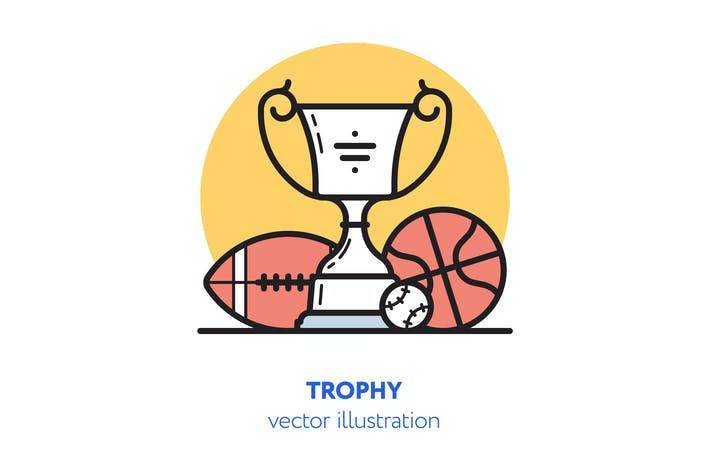 Thumbnail for Trophy vector illustration