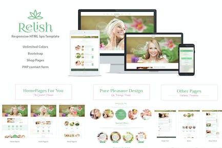 Relish Spa Salon HTML Template