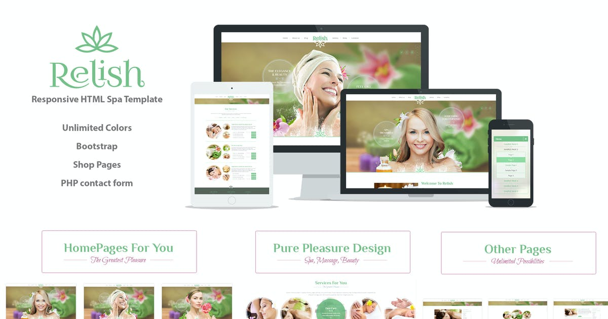 Download Relish Spa Salon HTML Template by CreativeWS