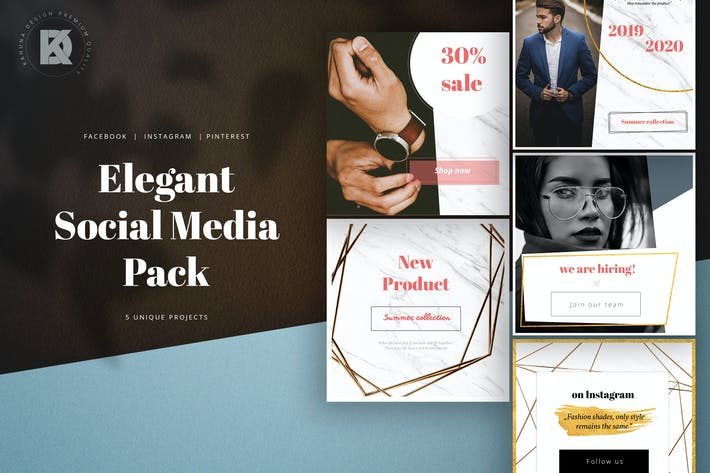 Thumbnail for Elegant Social Media Pack
