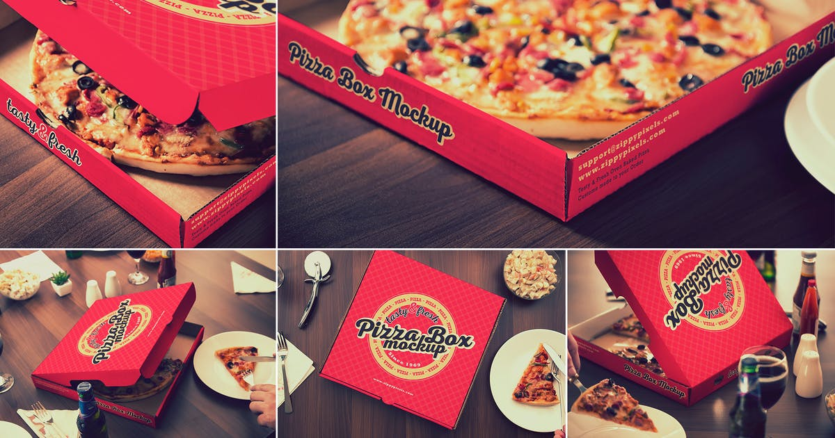Download Pizza Packaging Mockups by zippypixels