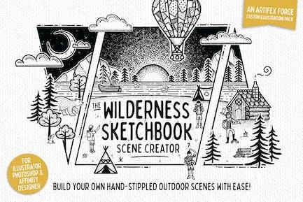 Wilderness Sketchbook Scene Creator