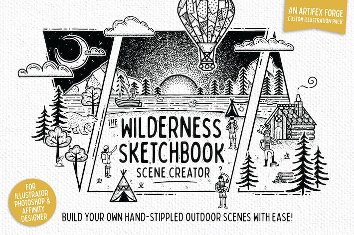 Thumbnail for Wilderness Sketchbook Scene Creator