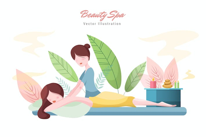 Thumbnail for Beauty Spa Vector Illustration