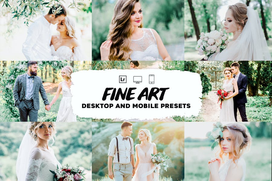 Fine art wedding lightroom presets