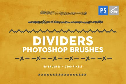 45 Dividers Photoshop Stamp Brushes Vol. 1