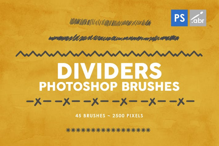 Thumbnail for 45 Dividers Photoshop Stamp Brushes Vol. 1