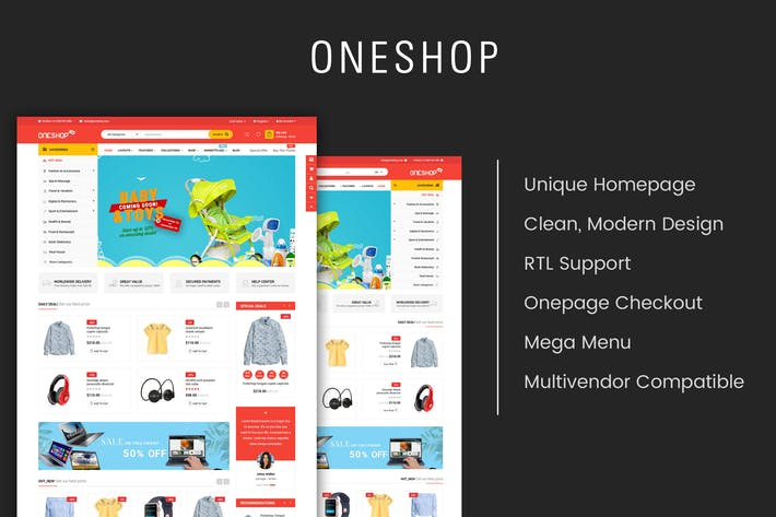 Thumbnail for OneShop - Multipurpose Responsive OpenCart 3 Theme