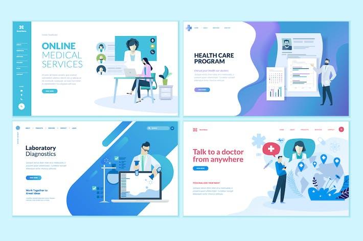 Thumbnail for Kit de Plantillas de Diseño de Página Web Medicina