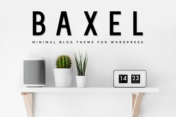 Thumbnail for Baxel - Minimalist WordPress Blog Theme