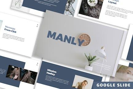 Manly - Google Slide Presentation Template