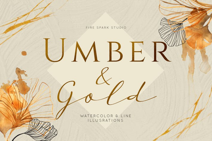 Thumbnail for Ginkgo Leaf Watercolor Illustrations