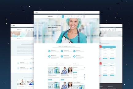 MedicalPress - Health and Medical PSD Template