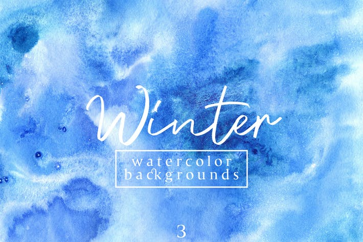 Thumbnail for Winter Watercolor Backgrounds 3