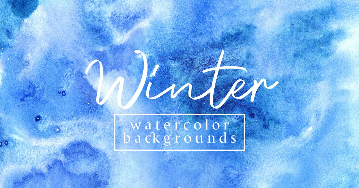 Download Winter Watercolor Backgrounds 3 by FreezeronMedia