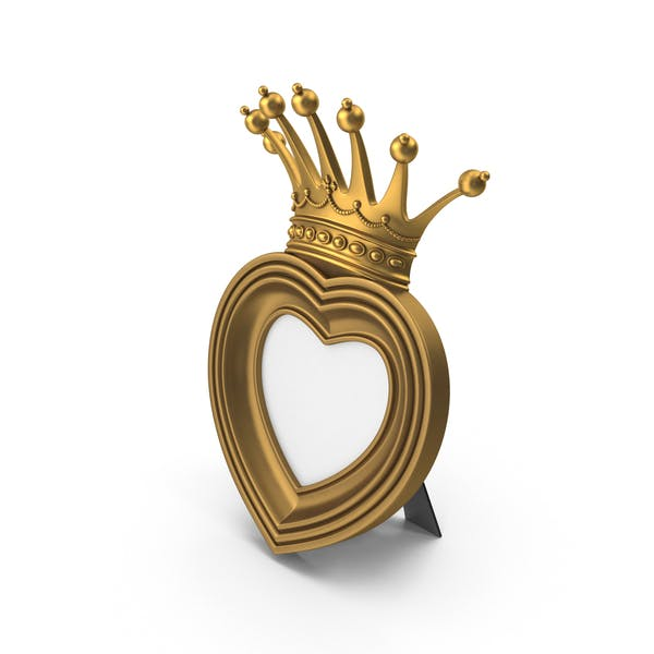 Thumbnail for Baroque Golden Heart & Crown Photo Frame