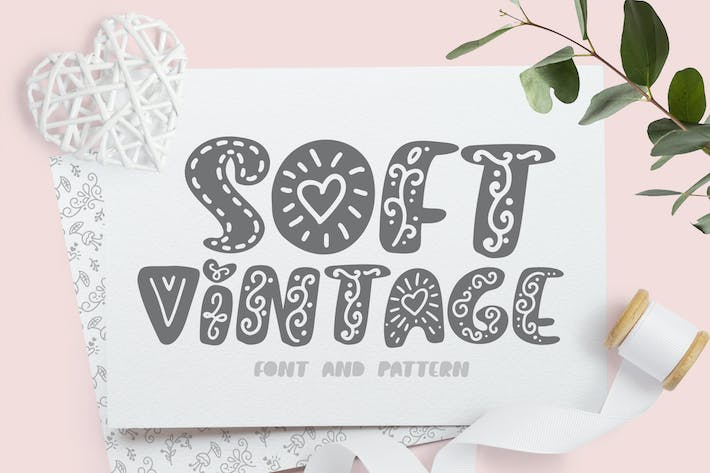 Thumbnail for Soft vintage Scandinavian Decor Font