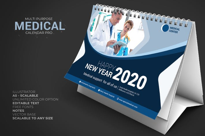Thumbnail for 2020 Medical Clinic - Calendar Desk Pro
