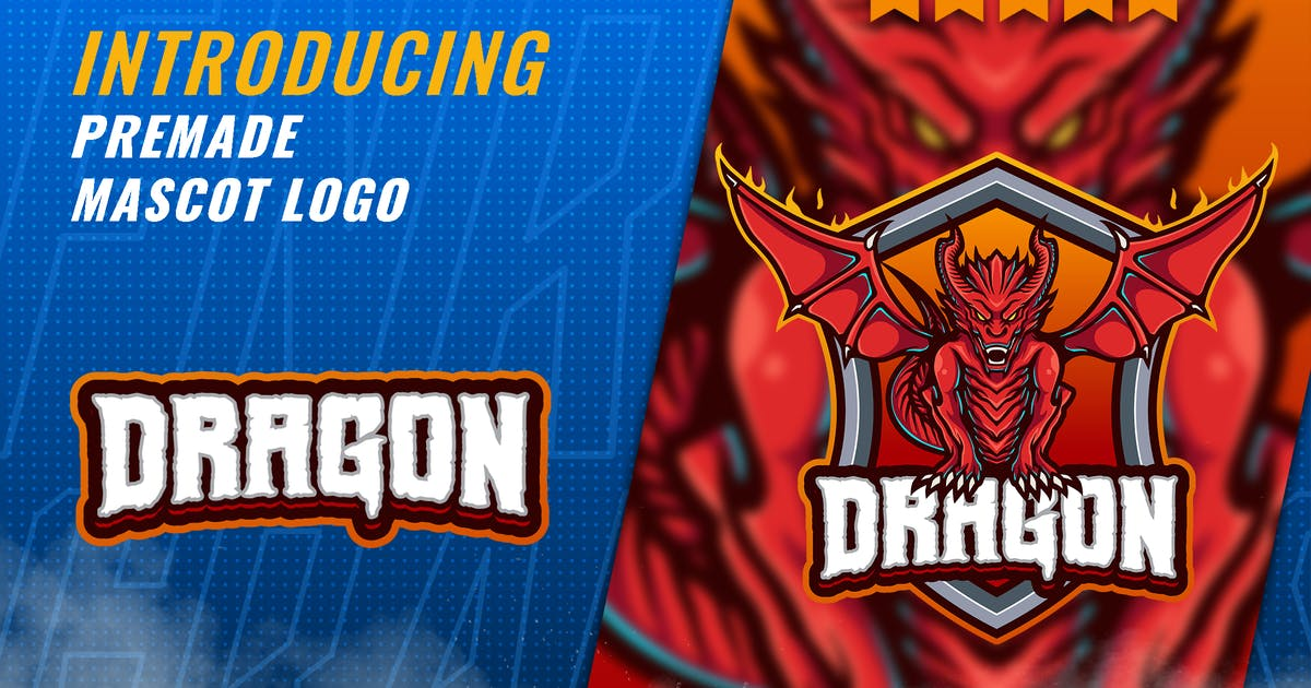 Download Red Dragon - Mascot Esport Logo Template by FNRGraphics