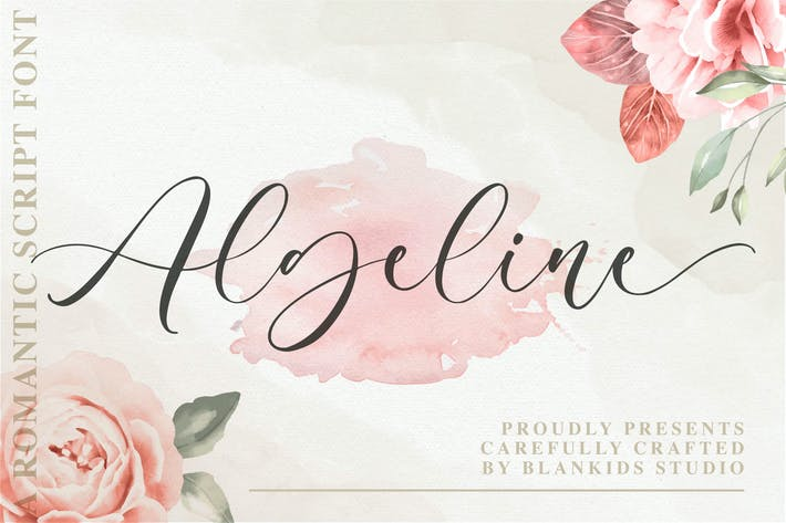 Algeline une police de script romantique