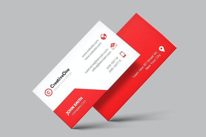 Thumbnail for Business Visiting Cards Design Template