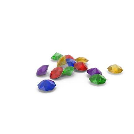 Pila de diamantes de colores