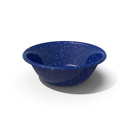 Blaue Emaille-Schale
