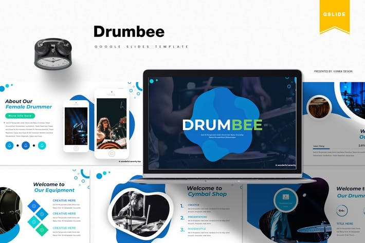Thumbnail for Drumbee | Google Slides Template