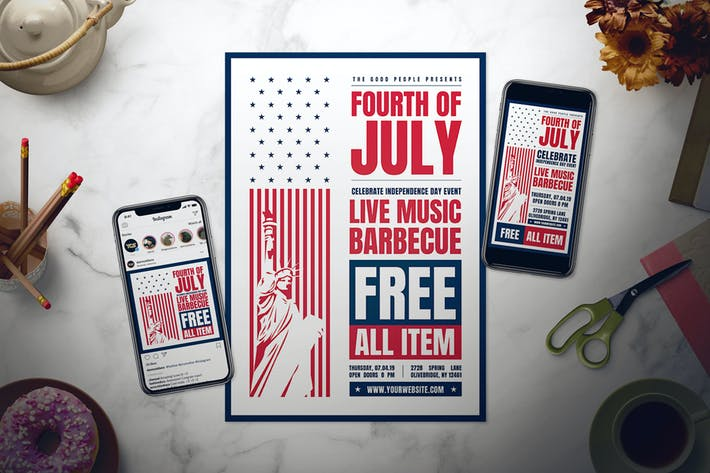 Thumbnail for 4th of July Flyer Set