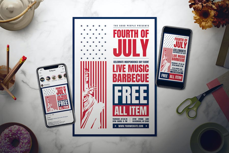 4th of July Flyer Set