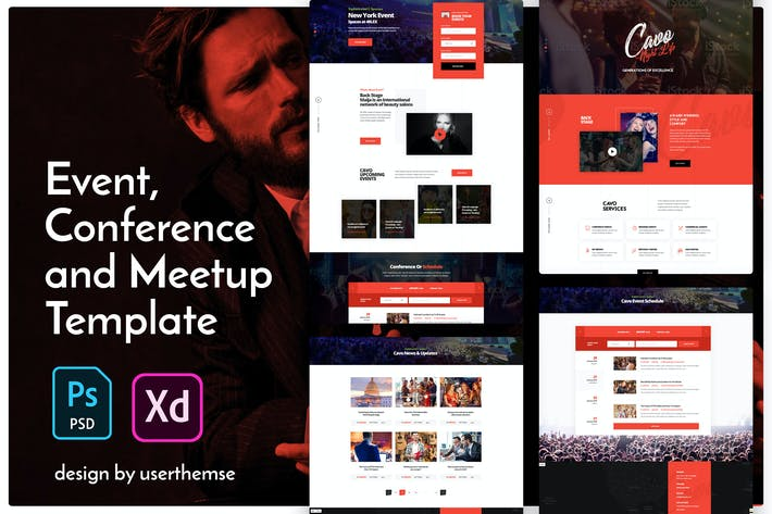 Cavo - Creative Event & Meetup Conference Template