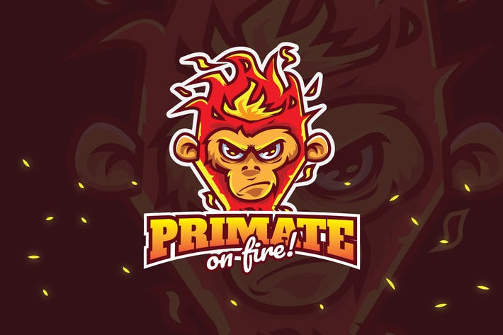 Thumbnail for primate fire - Mascot & Esport Logo