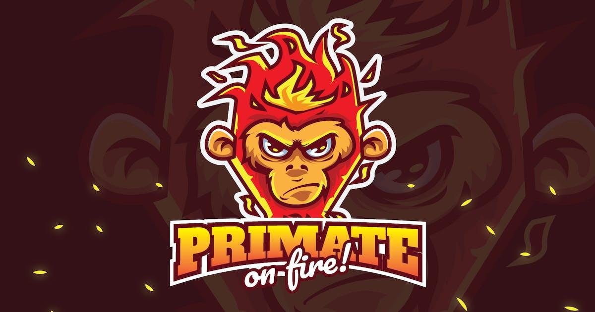 Download primate fire - Mascot & Esport Logo by aqrstudio