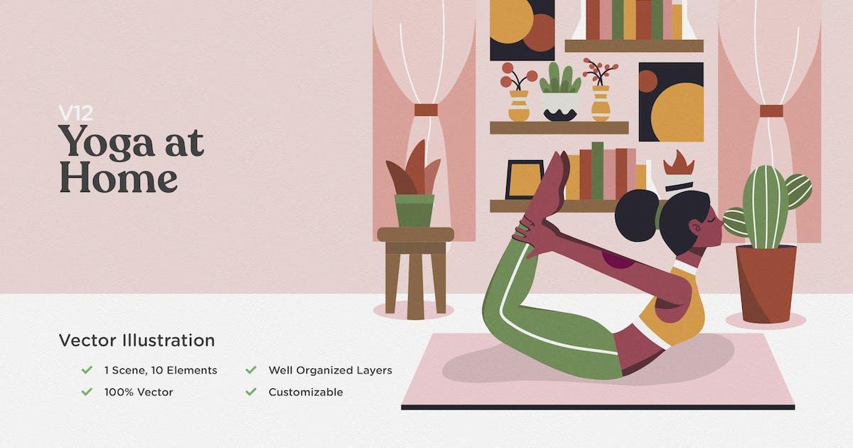 Download Yoga at Home Illustration by telllu