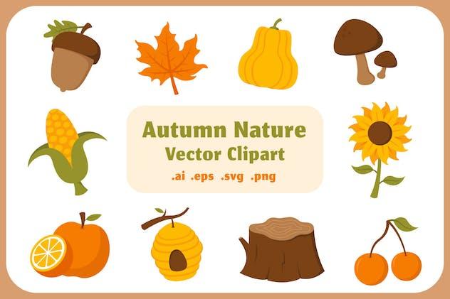 Autumn Nature Vector Clip Art Collection