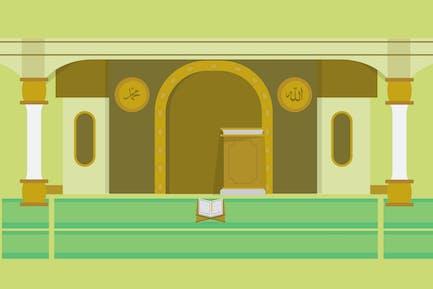 Mosquée - Illustration Arrière-plan