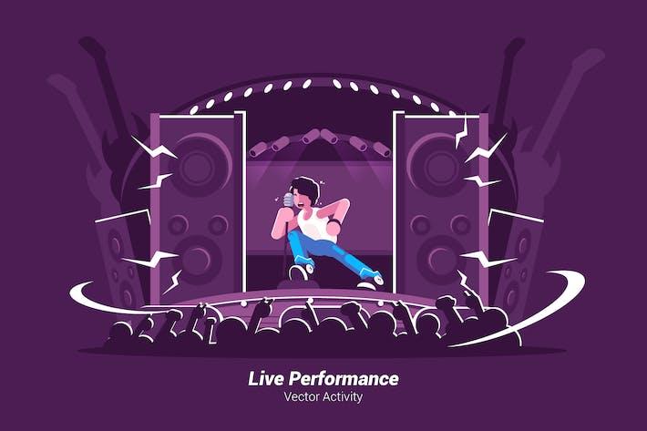 Thumbnail for Live Performance - Vector Illustration