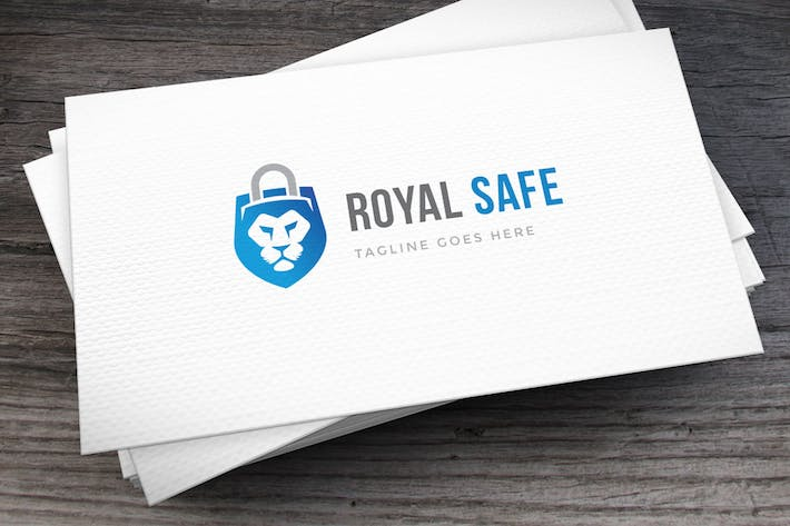 Cover Image For Royal Safe Logo Template