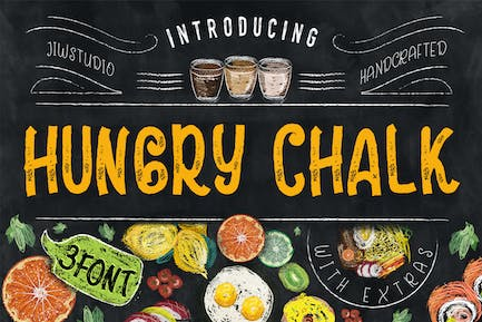 Hungry Chalk Typeface + Extras