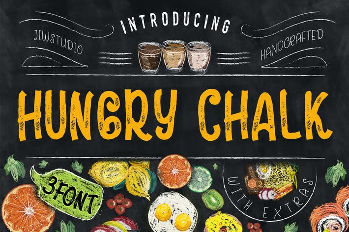 Thumbnail for Hungry Chalk Typeface + Extras