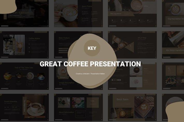 Thumbnail for Отличный кофе - Шаблон Keynote