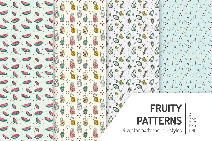 Thumbnail for Seamless Fruity Patterns