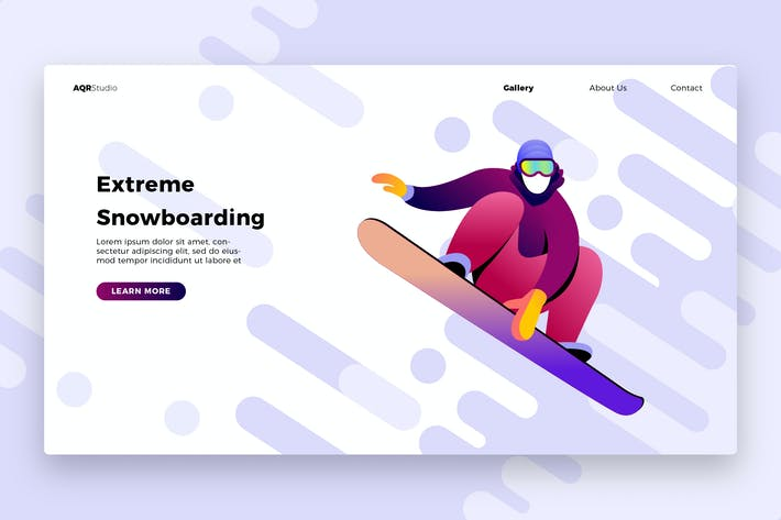 Cover Image For snowboard 1 - Banner & Landing Page