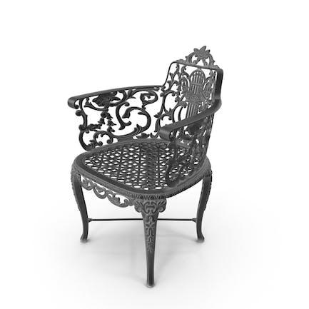 Gartenstuhl aus Gusseisen, Vintage-Stil, Vintage-Stil, Vintage-Stil, Schwarz