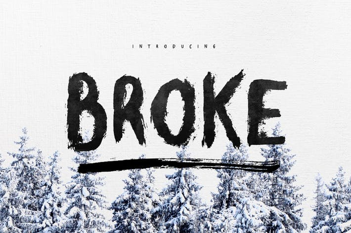 Thumbnail for Broke Typeface